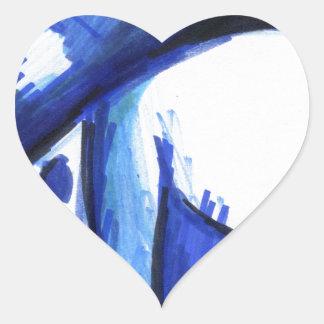 Blue Haus BH HB Heart Sticker