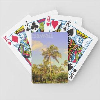 Blue Hawaii Bicycle Playing Cards
