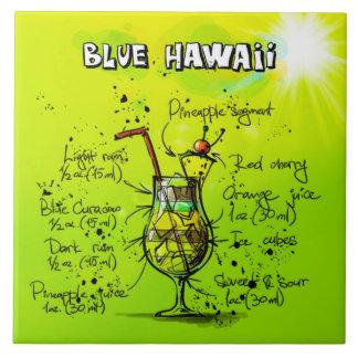 "Blue Hawaii Cocktail 6"" x 6' Ceramic Photo Tile"