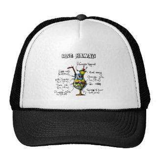 Blue Hawaii Cocktail Recipe Trucker Hat