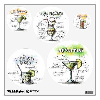 Blue Hawaii Drink Recipe Design Room Sticker