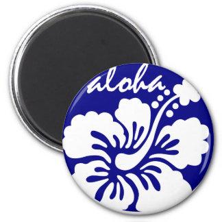 blue Hawaii flower Magnet