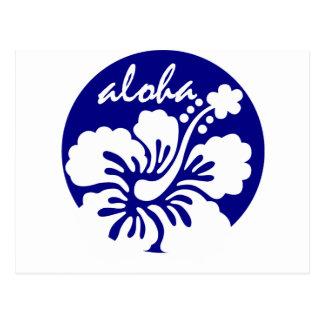 blue Hawaii flower Postcard