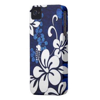 Blue Hawaii Flowers iPhone 4 Case