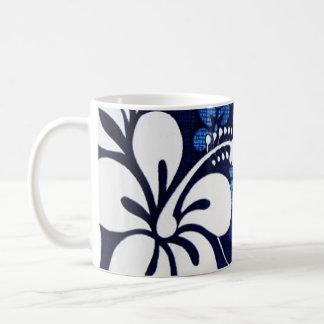 Blue Hawaii Flowers Coffee Mugs