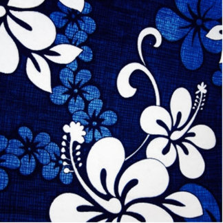 Blue Hawaii Flowers Cut Out
