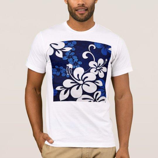 Blue Hawaii Flowers T-Shirt