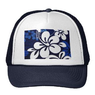Blue Hawaii Flowers Trucker Hat