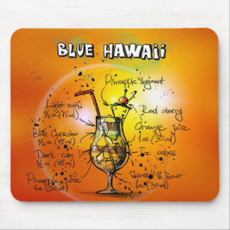 Blue Hawaii Mouse Pad