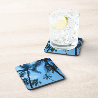 Blue Hawaii Palm Trees Coaster