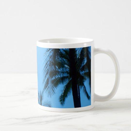 Blue Hawaii Palm Trees Coffee Mug