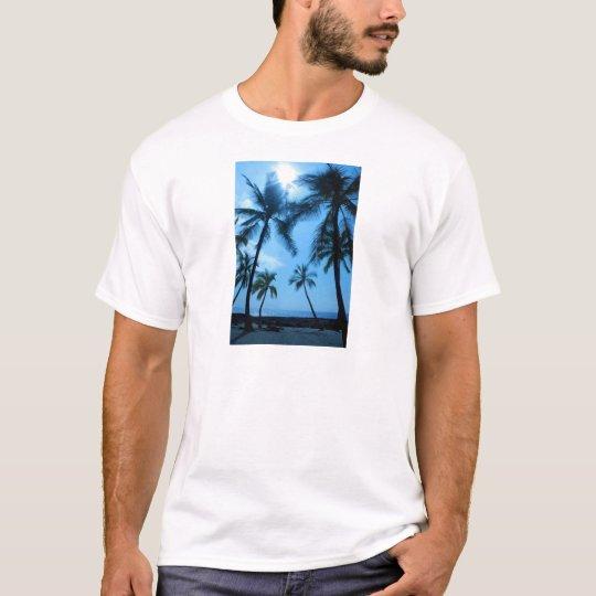 Blue Hawaii Palm Trees T-Shirt