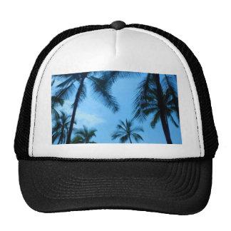Blue Hawaii Palm Trees Trucker Hat