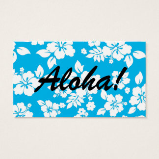 Blue Hawaiian Business Card