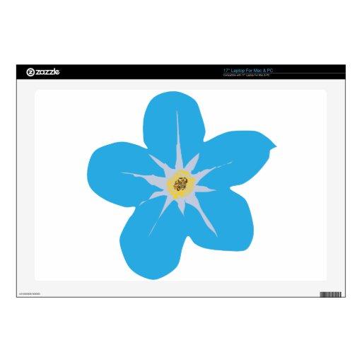 """blue hawaiian flower 17"""" laptop skin"""