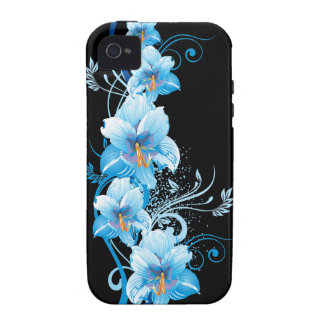 Blue Hawaiian Hibiscus Case-Mate iPhone 4 Covers