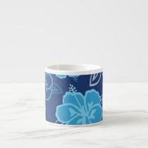 Blue Hawaiian Hibiscus Pattern Espresso Cup