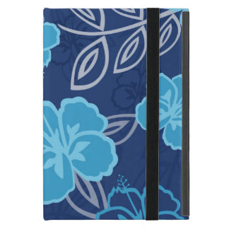 Blue Hawaiian Hibiscus Pattern Covers For iPad Mini