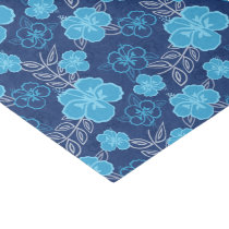 Blue Hawaiian Hibiscus Pattern Tissue Paper