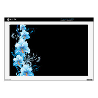 Blue Hawaiian Hibiscus Skin Decal For Laptop