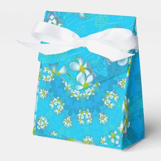 Blue Hawaiian Plumeria Lei Tent Favor Box Zazzle