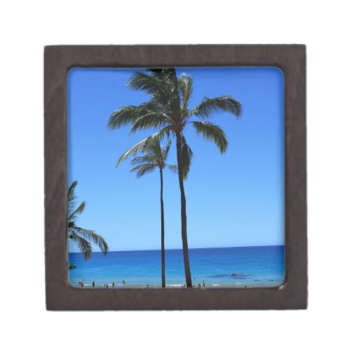 Blue Hawaiian Skies and Palm Tree Premium Gift Box