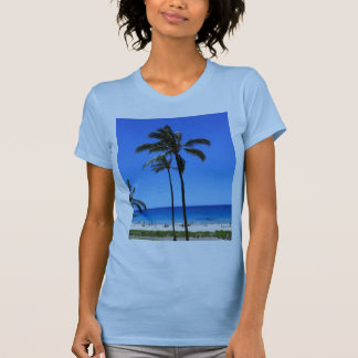 Blue Hawaiian Skies and Palm Tree T-Shirt
