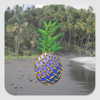 Blue Hawaiin Square Sticker
