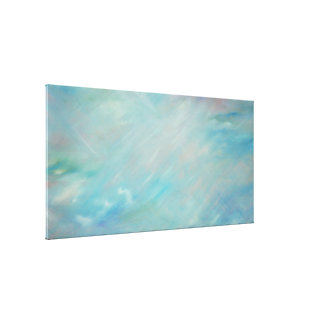 Blue haze float acrylic contemporary abstract art gallery wrapped canvas