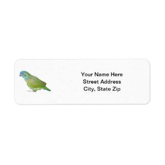 Blue Head Pionus Parrot Label