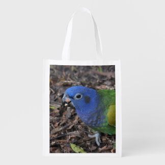 Blue Headed Amazon Parrot on ground On Tote Bag