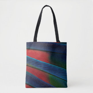 Blue-Headed Parrot Feather Detail Tote Bag