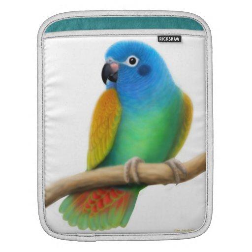 Blue Headed Pionus Parrot Rickshaw Sleeve iPad Sleeve