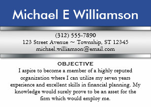 Resume business cards templates zazzle blue header resume business cards colourmoves