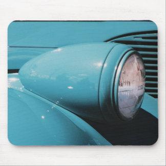 Blue Headlamp Mouse Pad