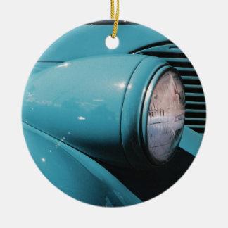 Blue Headlight Ceramic Ornament
