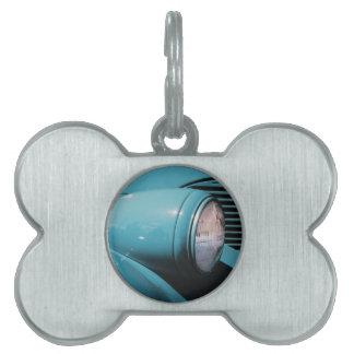 Blue Headlight Pet ID Tag