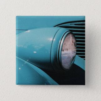 Blue Headlight Pinback Button