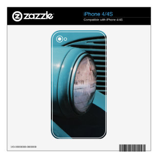 Blue Headlight Skin For The iPhone 4