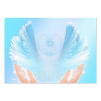 Blue Healing Angel Business Card Template