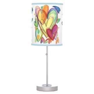 Blue Healing Hearts Lamp