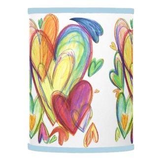 Blue Healing Hearts Lamp Shade