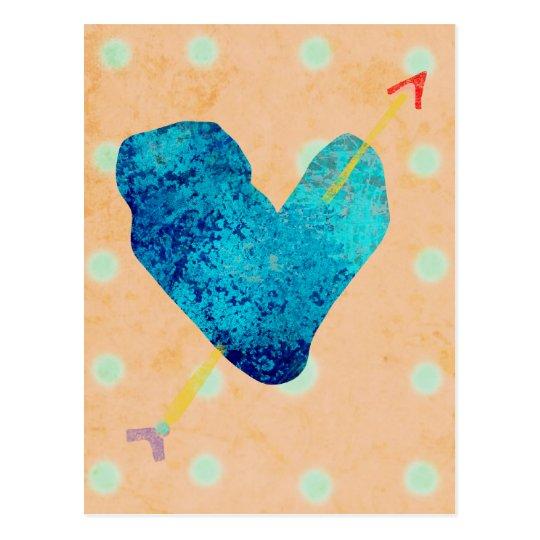 Blue Heart 14 February Postcard