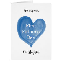 Blue Heart 1st Father's Day Son