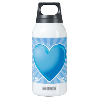Blue Heart and Wings 10 Oz Insulated SIGG Thermos Water Bottle
