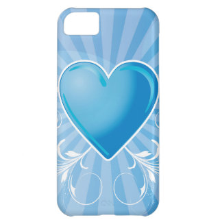 Blue Heart and Wings Case For iPhone 5C