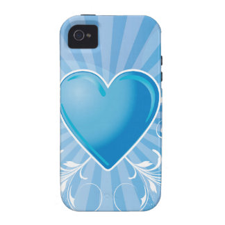 Blue Heart and Wings Case For The iPhone 4