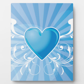 Blue Heart and Wings Display Plaques