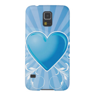 Blue Heart and Wings Galaxy S5 Covers