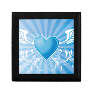 Blue Heart and Wings Gift Boxes